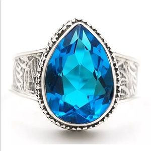 Jewelry - Flawless Blue Topaz 5CT Ring